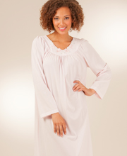 Pink Shadowline Petals Ballet Long Sleeves Night Gown