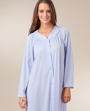 Plus Shadowline Petals Long Sleeves Long Robe - Peri
