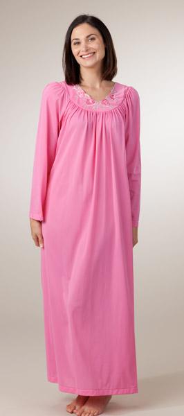 Long Sleeve Nylon Nightgown