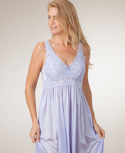 Plus Shadowline Silhouette Sleeveless Long Nightgown -  Peri Frost
