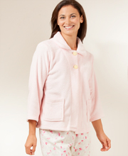 Cloud Fleece Bed Jacket - Soft Pink