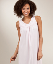 Plus Shadowline Petals Sleeveless Waltz Nightgown - Pink