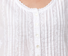 embroidered cotton beach coverup La Cera white