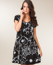 Peppermint Bay Short Sleeve Day-to-Night Dress - Leahi