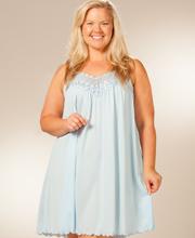 Plus Size Sleepwear - Sleeveless Plus Nightgowns