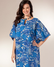 100% Cotton Kaftan by Peppermint Bay - One Size in Key Biscayne