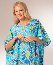 Cotton One Size Kaftan for Women by Peppermint Bay - Ocean Daisy