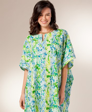 Peppermint Bay Cotton Kaftan Lounger - One Size in Sea Spray