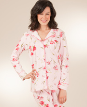 Carole Hochman Cotton-Rich Knit Pajama Set - Dahlia Shower
