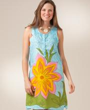 Sleeveless Micro Denier Poly Beach Dress - Sunshine Day