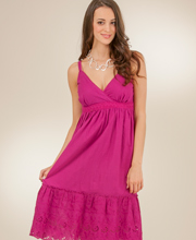 Clearance - Claudia Richards Plus Adjustable Strap Sundress in Amaranth