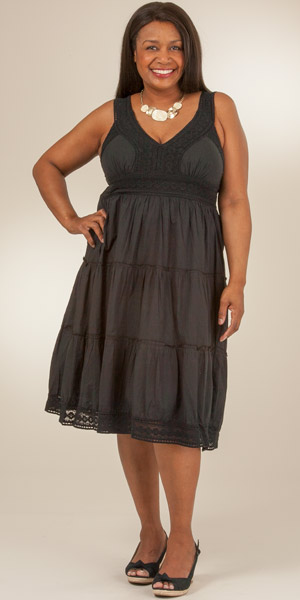 Cotton tiered dress plus size – Womans wallet and dresses