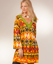 Special - Plus Size Peppermint Bay 100% Rayon Cover Up for Women - Cantina