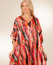 Satin Charmeuse Caftan One Size in Fire Island