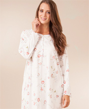 Plus La Cera Cotton Knit Long Nightgown - Long Sleeve in Pink Sonnet