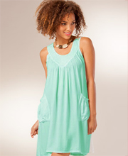Beach Dress Cover Up with Pockets Sleeveless by Tybee Island  in Oasis