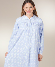 Lanz Flannel Nightgowns - Peter Pan Collar Ballet Nightgown - Peri Shower