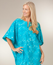 Cotton Loungewear - Peppermint Bay One Size Caftan in Wailuku Lake