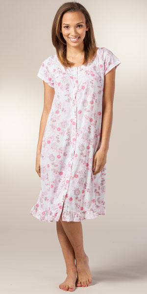 A Full Button-Front Makes Our Embroidered Elegance Nightgown As Easy to Put on As It Is a Dream to Wear overview With its colorful embroidered details and easy button-front style, you get the best of both worlds with this beautiful and comfortable nightgown/5(6).