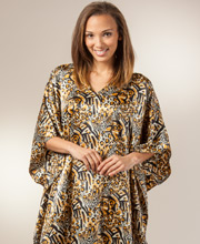 Kaftan Loungers - Satin Charmeuse Caftans by Sante in Feline Beauty