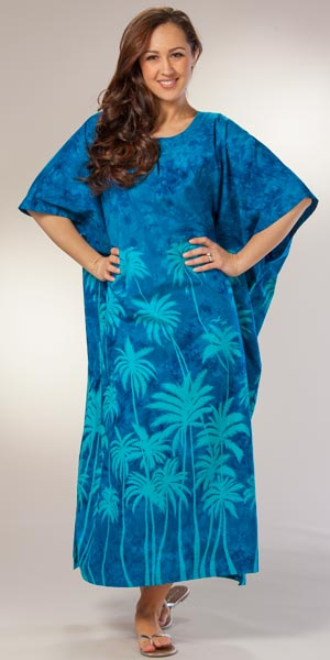 Cotton Caftans - Peppermint Bay Beach Caftan in Miami Nights