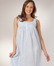 Eileen West Nightgown - Sleeveless Ballet Cotton Lawn - Dutch Shower