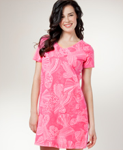 Beach Cover Up - I Can Too Cotton Beach Dress - Seashell Fancy in Pink