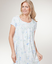 Eileen West Modal Cotton Knit Mid-length Nightgown - Mornin' Glory