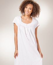 Eileen West Short Pima Cotton Knit Cap Sleeve Nightgown - Echo Vine