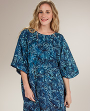Women's Caftan -  Short Sleeve One Size Rayon by Bali Batiks in Honolulu Night