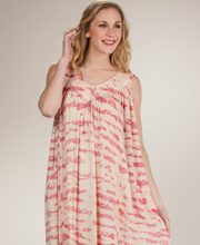 Maxi Dresses - Sleeveless Cotton One Size Sun Dress in Pink Sands