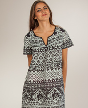 La Cera Cotton Dresses - Short Sleeve Muu Muu Dress in Country Cottage