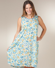 La Cera Sundress - 100% Cotton Cinch-Back Tank Dress - Playful Picnic