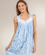 Eileen West Nightgown - Cotton Sleeveless Ballet Gown - Castile Floral
