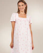 Short Sleeve Ballet Length Cotton Rich Gown by Aria in Fairy Floral