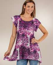 Second Skin by Jessica Taylor Tunic - Poly Top in Purple Celebration