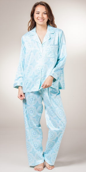 Silk flannel lined pajamas – Modern clothing designers