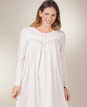Aria Fleece Nightgowns - Long Sleeve Ballet Nightgown in Harlequin