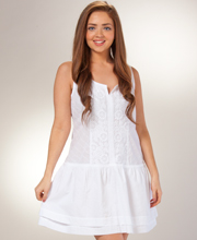 La Cera Boutique Embroidered Sleeveless Beach Cover Up in Radiance