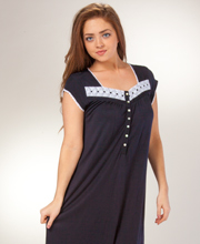 Eileen West Modal Knit Ballet Short Sleeve Nightgown In Mystique