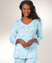 Carole Hochman Pajamas - Long Sleeve Cotton PJs in Key Largo