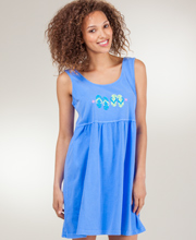 Cotton Beach Dress - I Can Too Babydoll Cover Up in Sea Twinkle