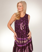 Beach Coverup - One Size Misses Sleeveless Dress in Astral Purple