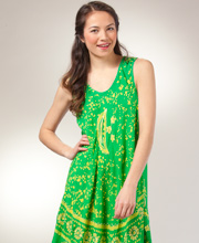 Beach Dress - Sleeveless One Size Misses Coverup in Astral Yellow