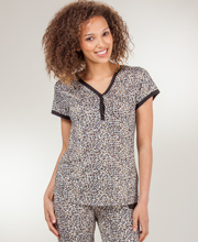 Poly Knit Pajamas - Cap Sleeve