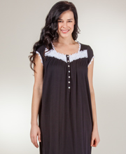 Long Eileen West Nightgown - Cotton Modal Cap Sleeve - Evening Pageant