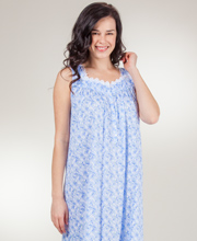 Eileen West Cotton Modal Knit Sleeveless Ballet Nightgown - Daisy Glimmer