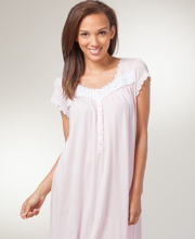 Cap Sleeve Eileen West Cotton-Modal Ballet Nightgown - Primrose Pageant