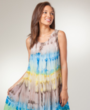 Beach Dresses for Women - Cotton Sleeveless Coverup in Mirage