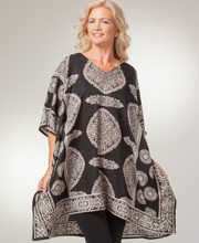 Women's Short Caftans - 100% Polyester One Size Kaftan Top in Victorian Eve